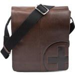 Pánská kožená taška Strellson Jones Messenger - hnědá