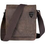 Pánská kožená taška přes rameno Strellson Richmond tmavě hnědá