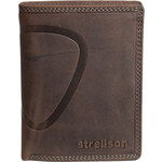 Pánská kožená peněženka Strellson Billfold V8 hnědá