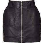 Topshop Leather Uber Mini Skirt