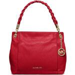 Červená kožená kabelka Michael Kors Naomi