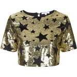 Topshop **Sequin Crop Top by Glamorous