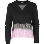 Topshop **Crop Sweatshirt With Dip Dye Fringing by Jaded London