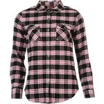 Lee Cooper Flannel Ladies Shirt, black/pink/wht