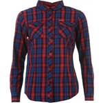 Lee Cooper Long Sleeved Check Shirt Ladies, blue/red