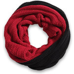 Esprit bi-colour knitted snood