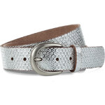 Esprit metallic leather belt