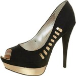 Ravel LACEY High Heel Peeptoe schwarz/gold