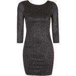 Topshop Zig Zag Glitter Bodycon Dress