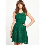 CLOSET Krásné zelené skater šaty