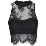 Topshop **Sweetheart Lace Crop Top by Glamorous Petites