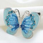 Motýlí brož Blue