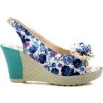 BAOLIKANG Květinové sandálky na klínku 908BL