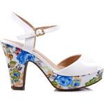 BLESS Sandálky na podpatku LT22516WH