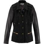 REKEN MAAR černá dámská značková bunda s koženými rukávy 34 černá