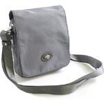 Šedá crossbody kabelka Hexagona Nina s koženými detaily šedá