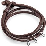 Esprit leather/sterling silber charm bracelet
