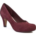 Polobotky CLARKS - Chorus Voice 261009664 Ox-Blood Suede