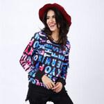 Lesara Pullover mit All-Over-Print - Blau - L