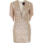 Topshop **Plunge Fringe Sequin Mini Dress by Rare