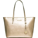 Michael Kors jet set travel top zip pale gold kabelka