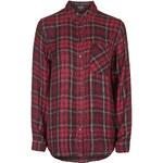 Topshop Beaded Tartan Check Shirt