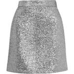Topshop **Metallic Silver Tinsel Mini Skirt by Jaded London