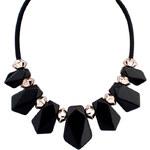 Lesara Collier à pierres noires
