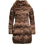 Dámská zimní bunda s chlupatým límcem - hnědá - XLDue Linee