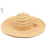 Klobouk dámský plážový ažurový (1 ks) - 1 béžová sytá Stoklasa
