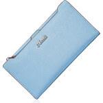 Dámská kožená peněženka Nucelle Slim modrá