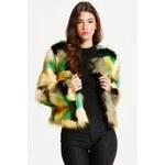 LA FEMME Designový kožešinový kabát