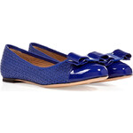 Salvatore Ferragamo Leather Laser Cut Varina Ballerinas