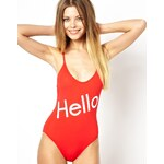 Wildfox Charlie Classic One-PC Swimsuit - Red