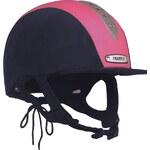 Champion X Air Riding Hat Junior Girls, navy/pink