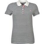 Kangol Striped Polo Shirt Ladies, white/navy