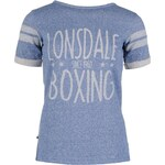 Lonsdale Box T Shirt Ladies, denim marl