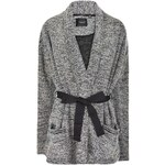 Maison Scotch Boucle Wrap Cardigan, charcoal
