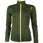Reebok Sport Essential Play Dry Track Jacket, olive/yellow