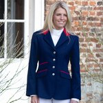 Shires Henley Jacket Ladies, navy/red