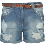 Soul Cal SoulCal Belted Shorts Ladies, mid wash blue