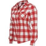 Urban Classics Ladies Checked Flanell Shirt Shirt red white