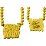 Wood Fellas F-YOU Men Necklace yellow