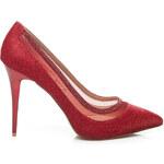 BELLE WOMEN Svůdné dámské lodičky - červené, vel. 36