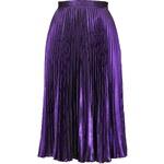 Topshop Foil Pleated Midi Skirt