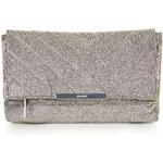 Topshop Shimmer Quilted Clutch Bag