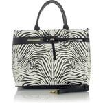 Pruhovaná kabelka Monnari 8850a - černo-bílá