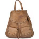 CHIC Bohemian Attitude kožený batoh Vintage CHIC béžový