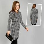 Lesara Kleid mit Hahnentritt-Muster - S
