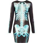 Topshop X- Ray Skeleton Bodycon Dress
